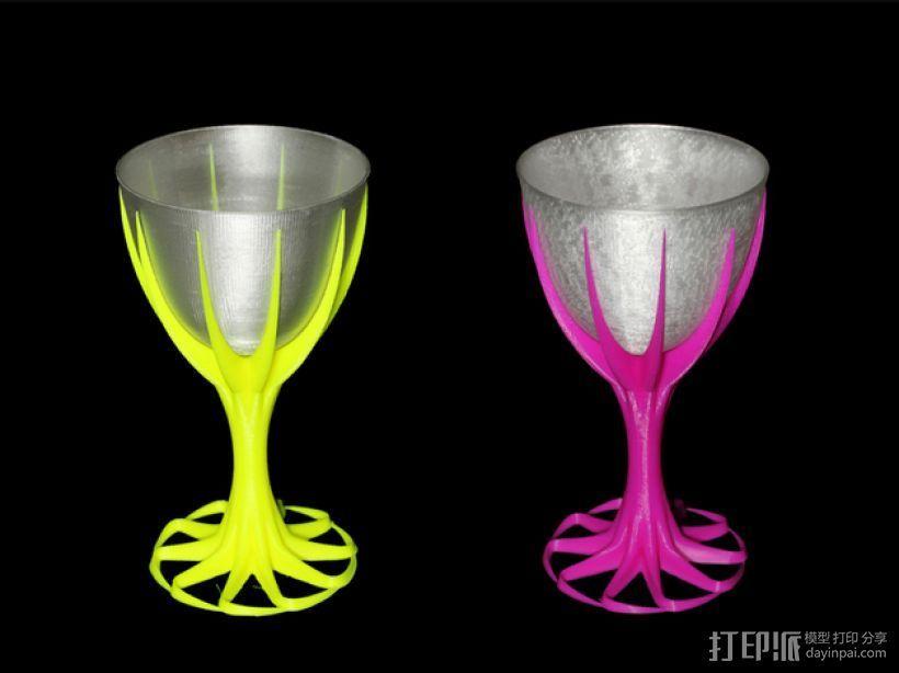 双色酒杯 3D打印模型渲染图