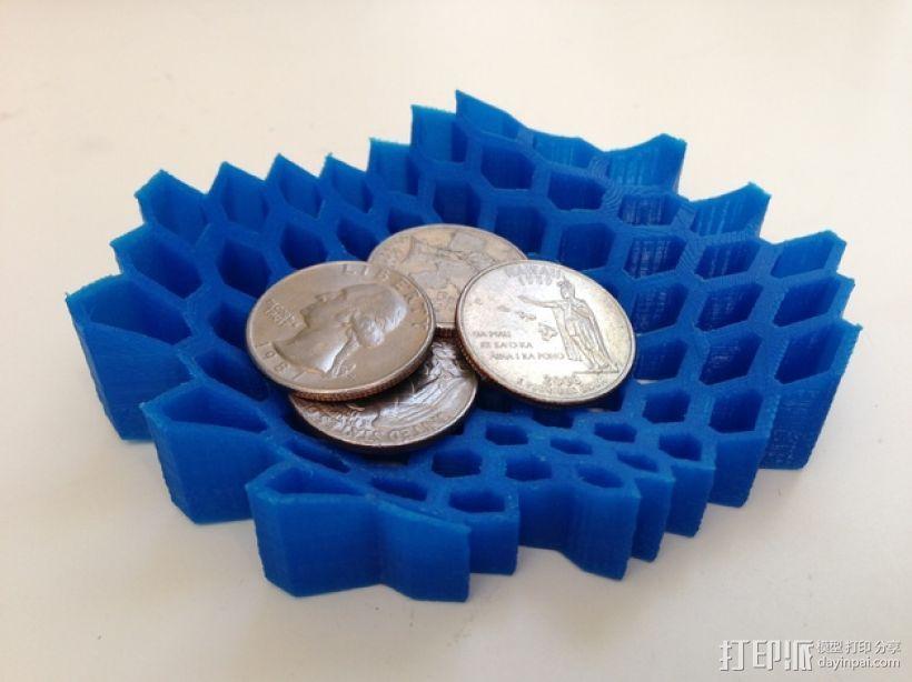 蜂巢形托盘 3D打印模型渲染图