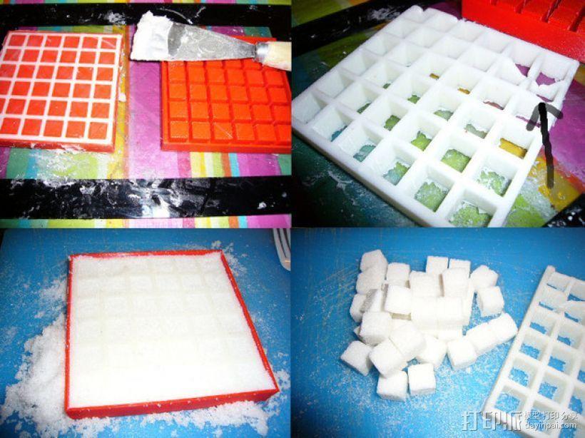 方糖制作模具 3D打印模型渲染图