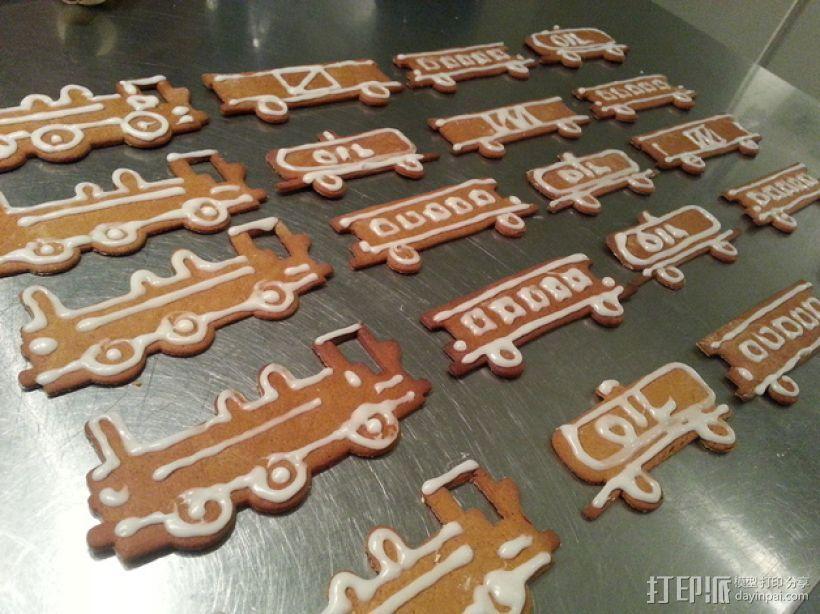 火车形饼干模具切割刀 3D打印模型渲染图