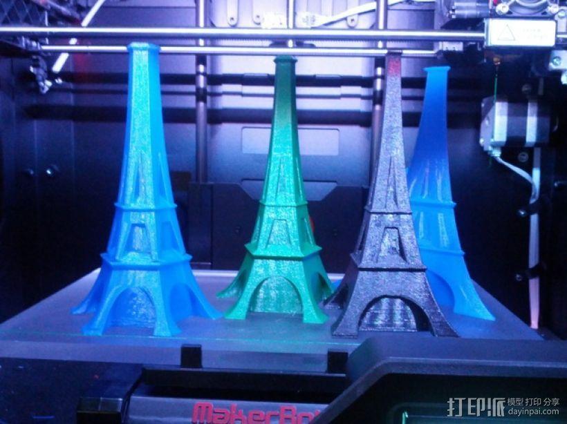 艾菲尔铁塔形花瓶 3D打印模型渲染图