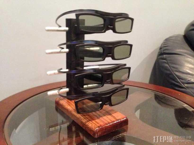 3D打印眼镜架 3D打印模型渲染图