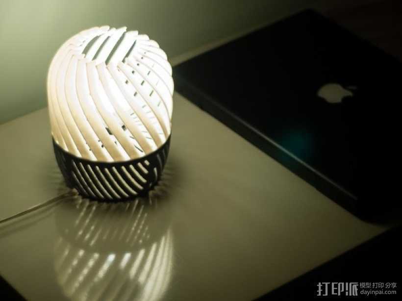 螺旋形灯罩 3D打印模型渲染图