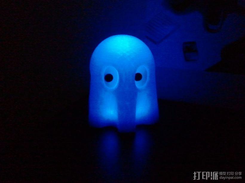 迷你幽灵灯具 3D打印模型渲染图