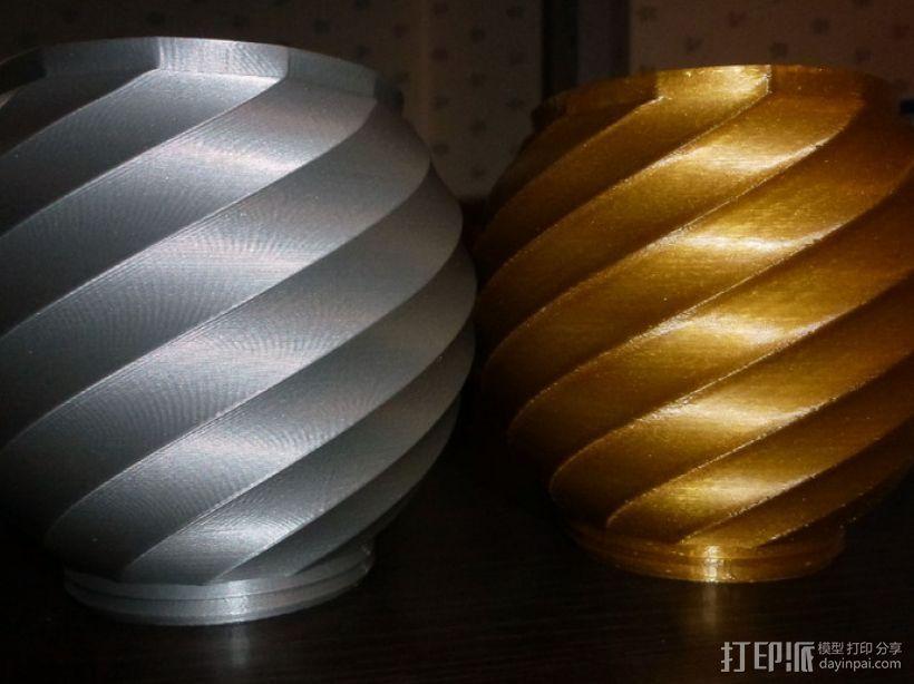 螺旋形瓮/缸 3D打印模型渲染图