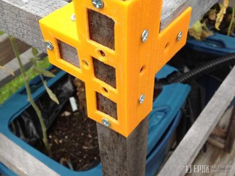 花园木桩支架 3D打印模型渲染图