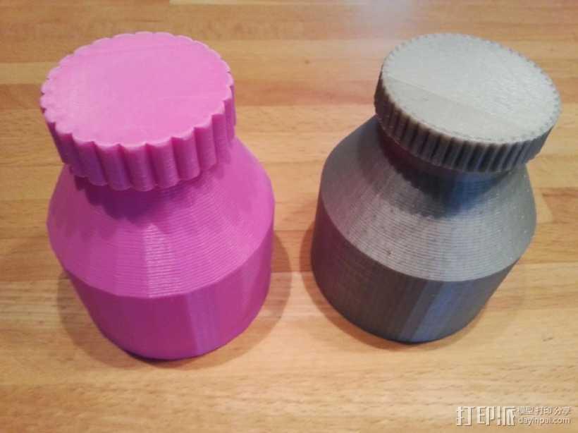 迷你小瓶 3D打印模型渲染图