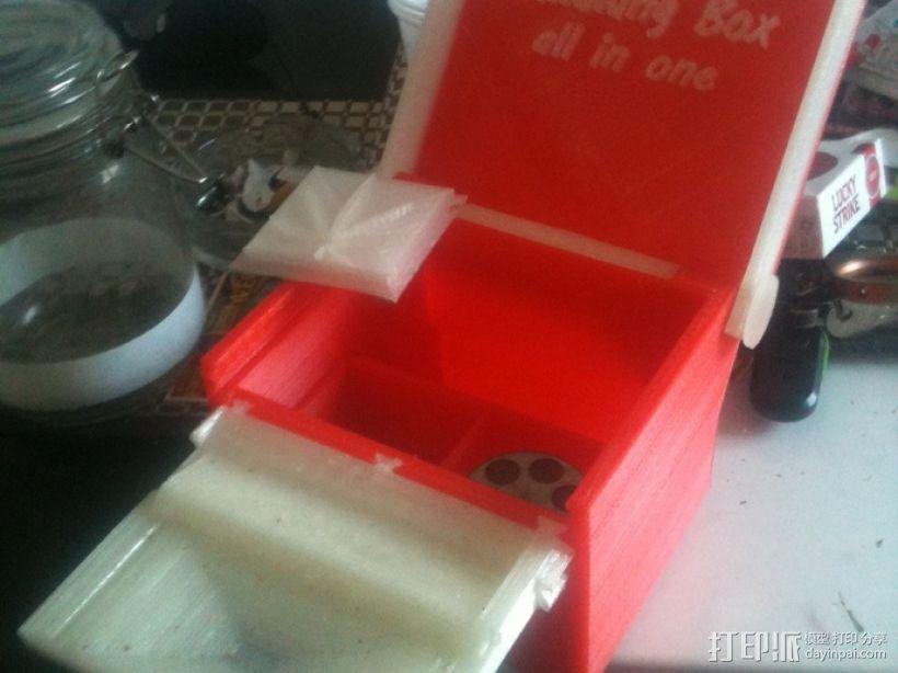 一体化烟盒 3D打印模型渲染图