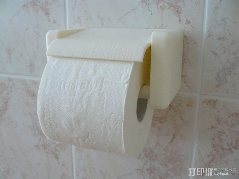 迷你厕纸架 3D打印模型渲染图