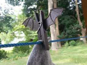 蝙蝠形晒衣夹