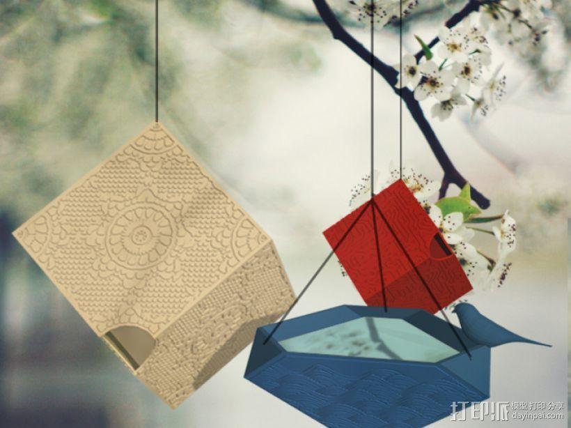 个性化鸟笼套件 3D打印模型渲染图
