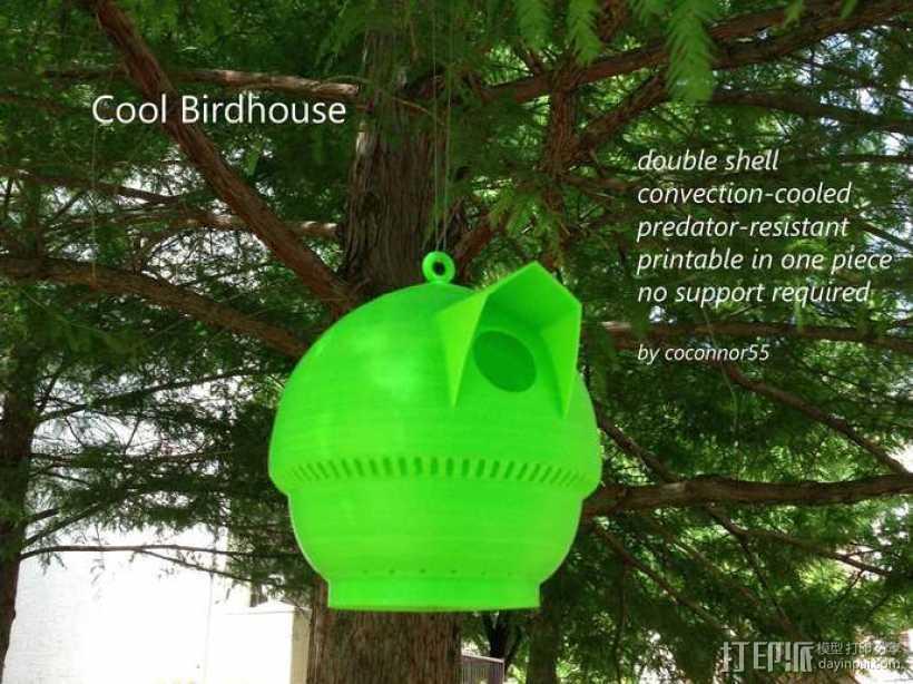 迷你个性化鸟笼 3D打印模型渲染图