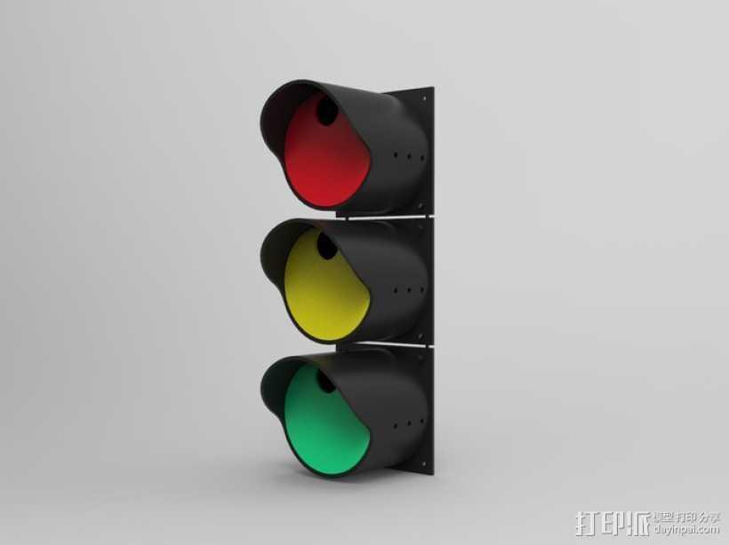 红绿灯形鸟笼 3D打印模型渲染图