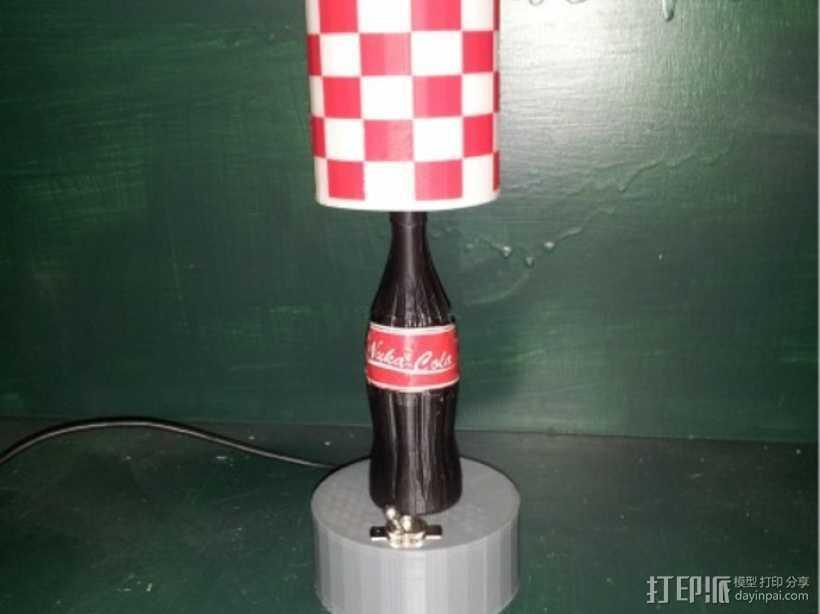 可口可乐瓶灯罩 3D打印模型渲染图