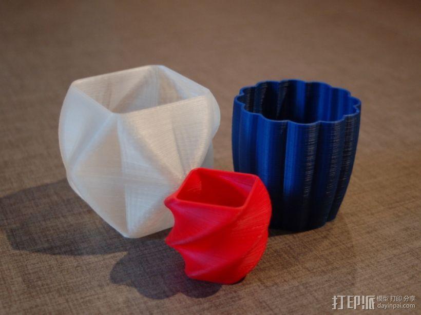 个性化花瓶/杯子 3D打印模型渲染图