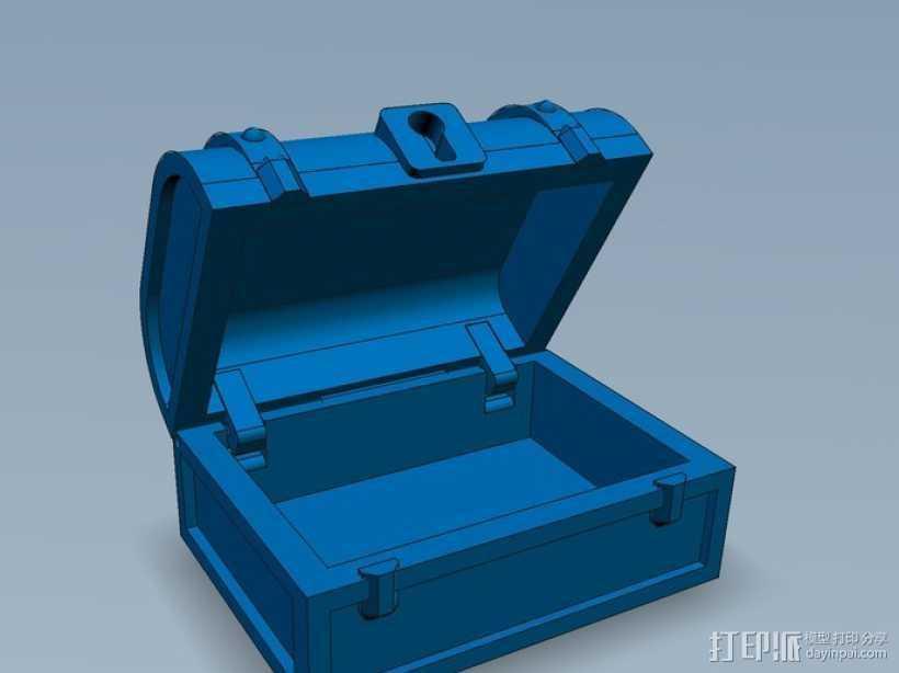 迷你藏宝箱 3D打印模型渲染图