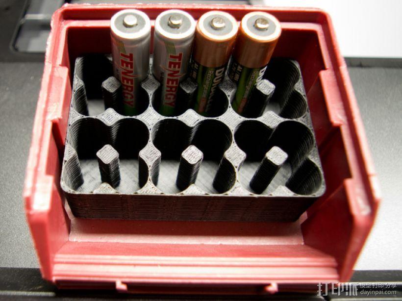 AA电池盒 3D打印模型渲染图