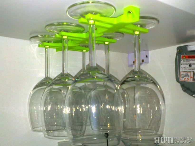玻璃酒杯架 3D打印模型渲染图