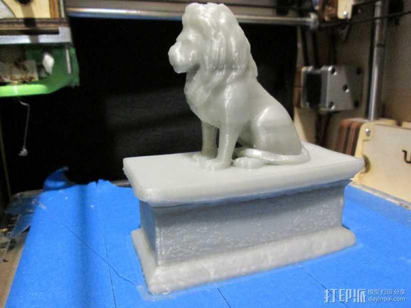 狮子收纳盒 3D打印模型渲染图