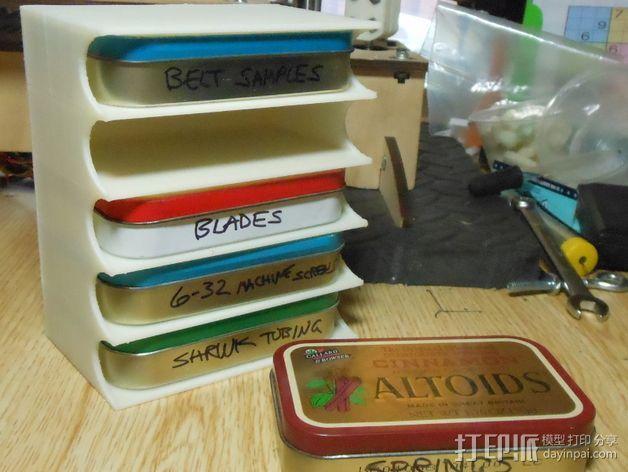 Altoids口香糖盒架 3D打印模型渲染图