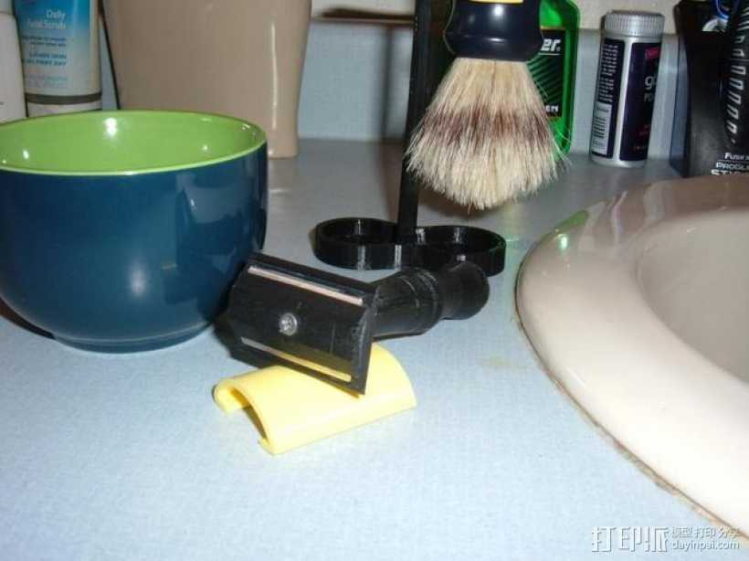 迷你剃须刀架 3D打印模型渲染图