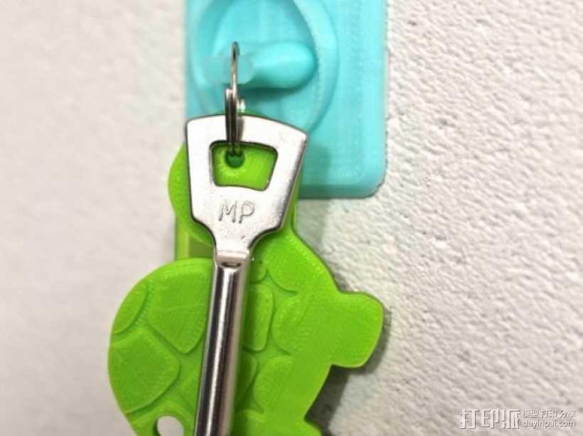 壁挂式钥匙架 3D打印模型渲染图