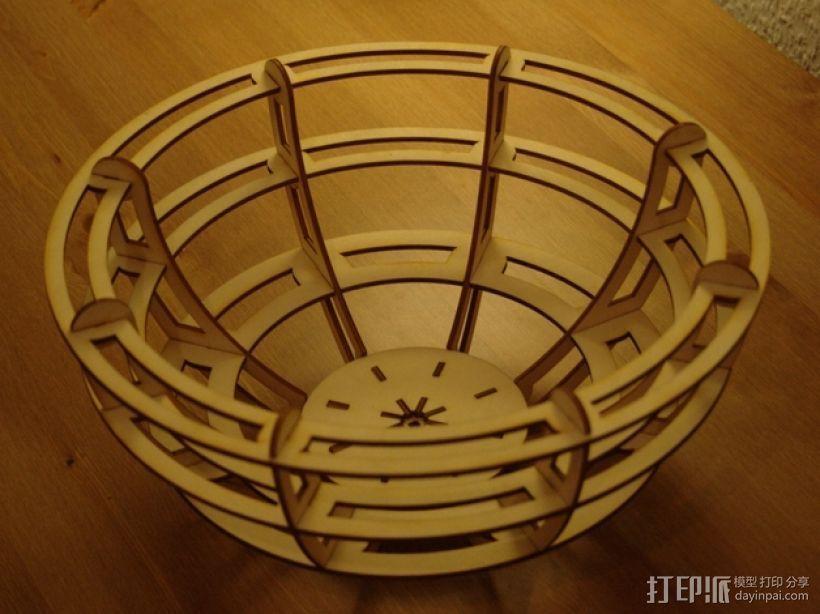 激光切割小碗 3D打印模型渲染图