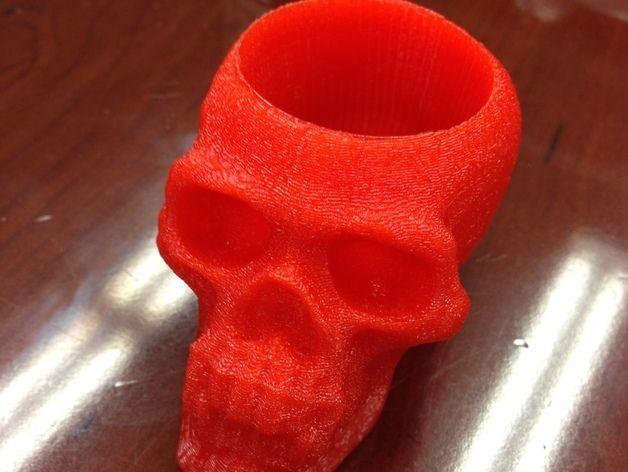 骷髅头形酒杯 3D打印模型渲染图
