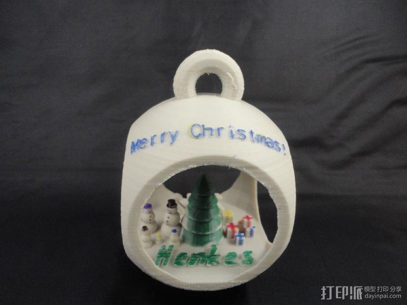 参数化圣诞树装饰品 3D打印模型渲染图