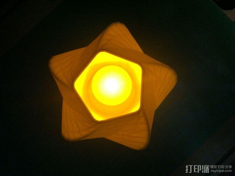 五边形灯罩/花瓶 3D打印模型渲染图