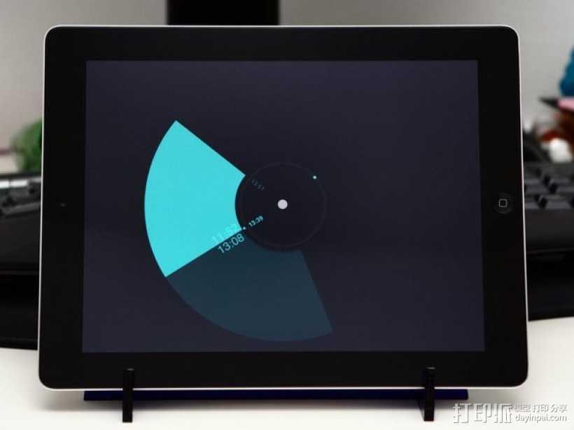 激光切割iPad架 3D打印模型渲染图