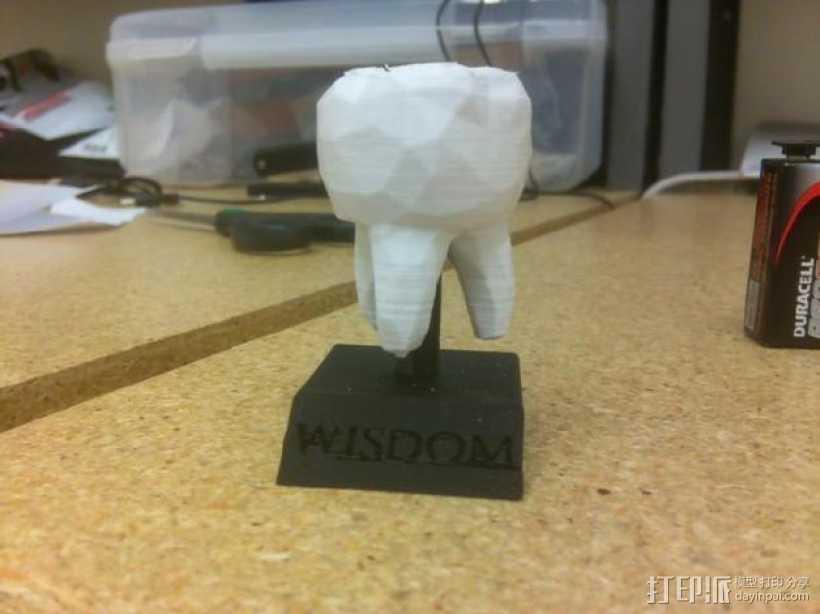 迷你智齿 3D打印模型渲染图