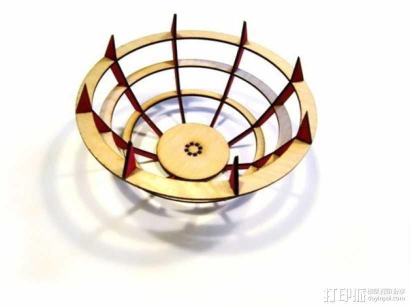 激光切割水果盘 3D打印模型渲染图