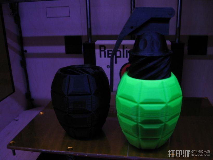 手榴弹形容器 3D打印模型渲染图
