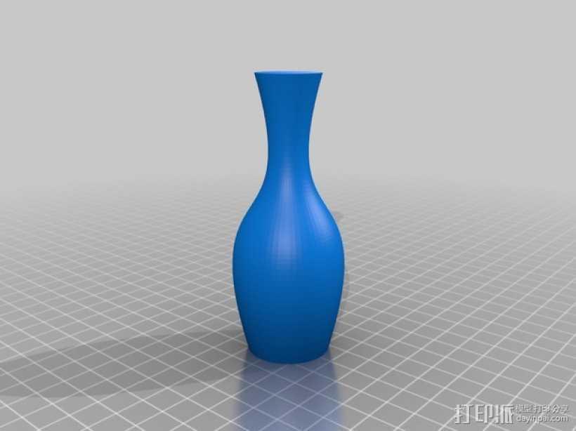 定制化贝塞尔曲线花瓶 3D打印模型渲染图
