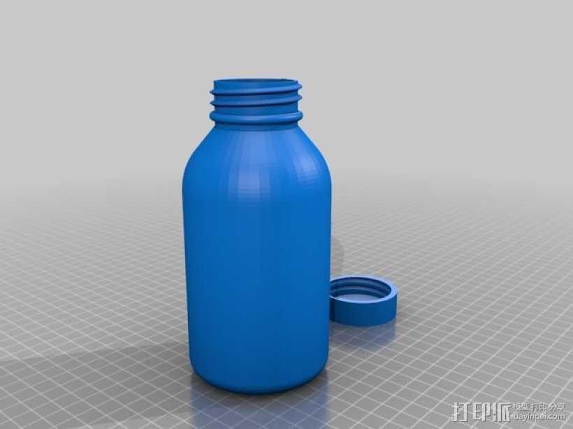 SKS瓶 3D打印模型渲染图