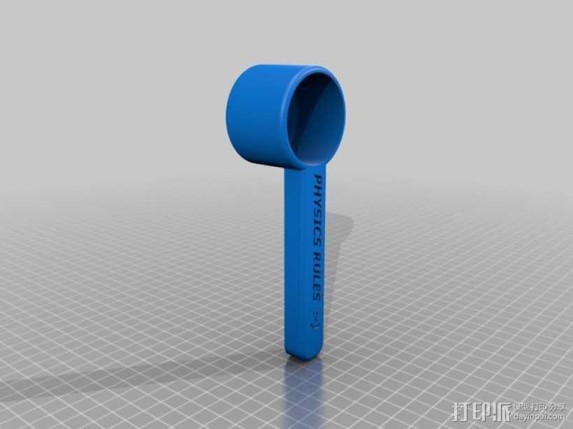 迷你咖啡勺 3D打印模型渲染图