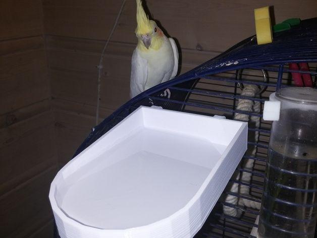 迷你小鸟饮水盆 3D打印模型渲染图