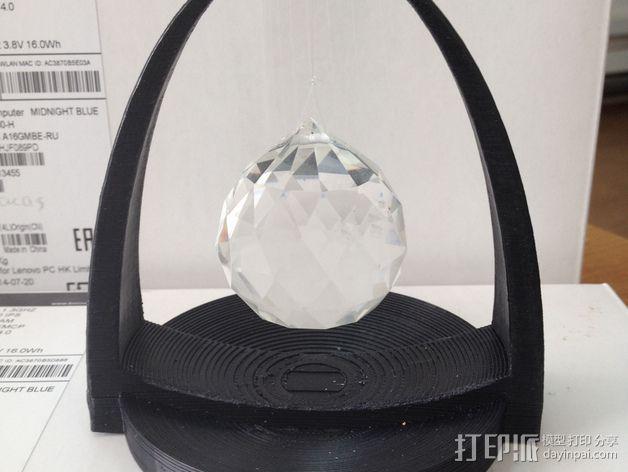 水晶吊坠架 3D打印模型渲染图