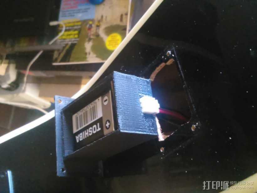 吉他电池盒 3D打印模型渲染图
