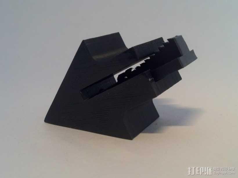 沙发套防卷夹 3D打印模型渲染图
