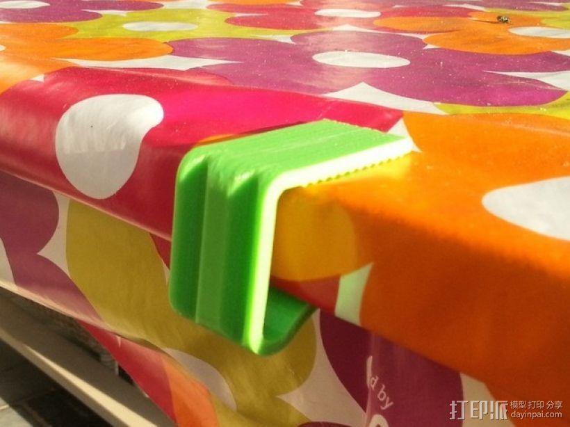 桌布夹 3D打印模型渲染图