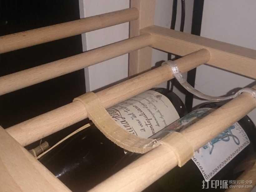 宜家红酒架连接装置 3D打印模型渲染图