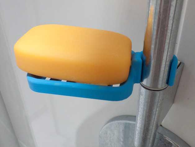 壁挂式肥皂架 3D打印模型渲染图