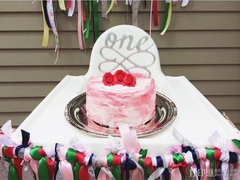 生日蛋糕装饰品 3D打印模型渲染图
