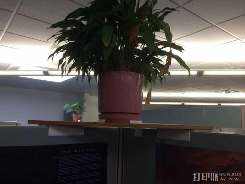 办公室隔间盆栽架 3D打印模型渲染图
