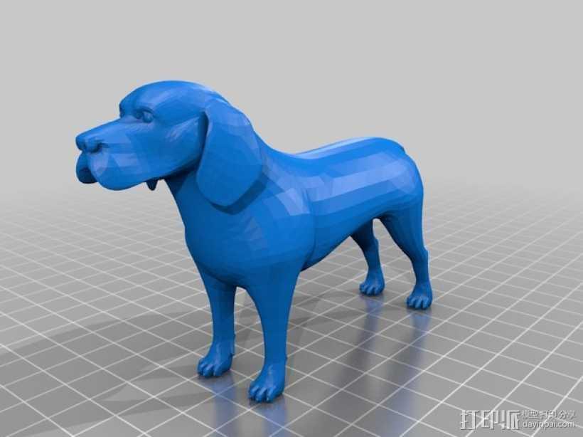 比格犬 3D打印模型渲染图
