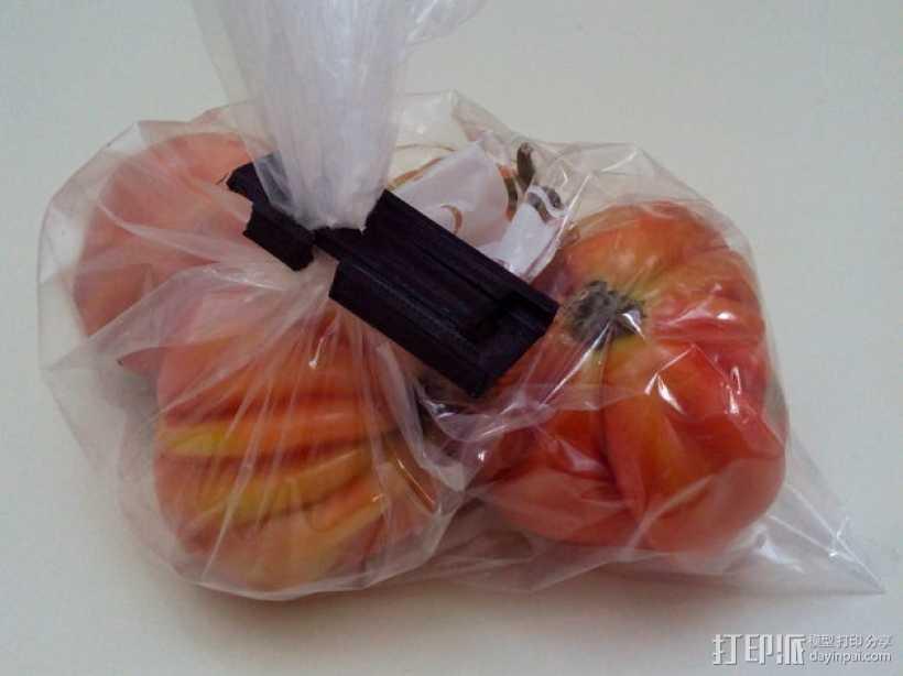 食物包装袋封口夹 3D打印模型渲染图