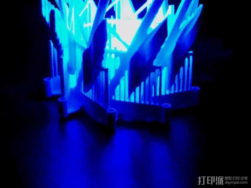 多边形灯罩 3D打印模型渲染图