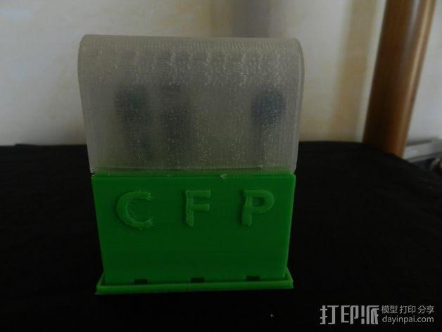 电动牙刷架 3D打印模型渲染图